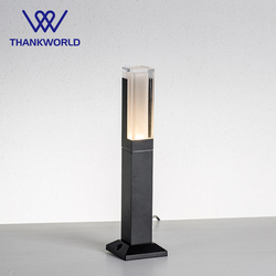 VW LED linterna luz 220v 5w césped lámpara ip65 lámpara para jardín de aluminio accesorio iluminación al aire libre acylico jardín camino bollard Luz