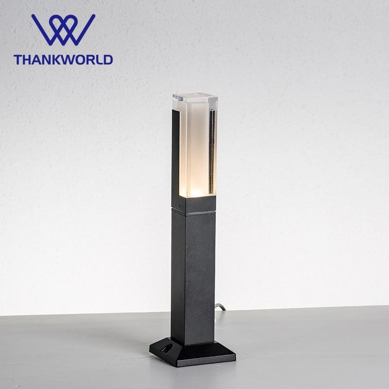 vw led lanterna luz 220v 5w lampada do gramado ip65 aluminio jardim luminaria de iluminacao ao