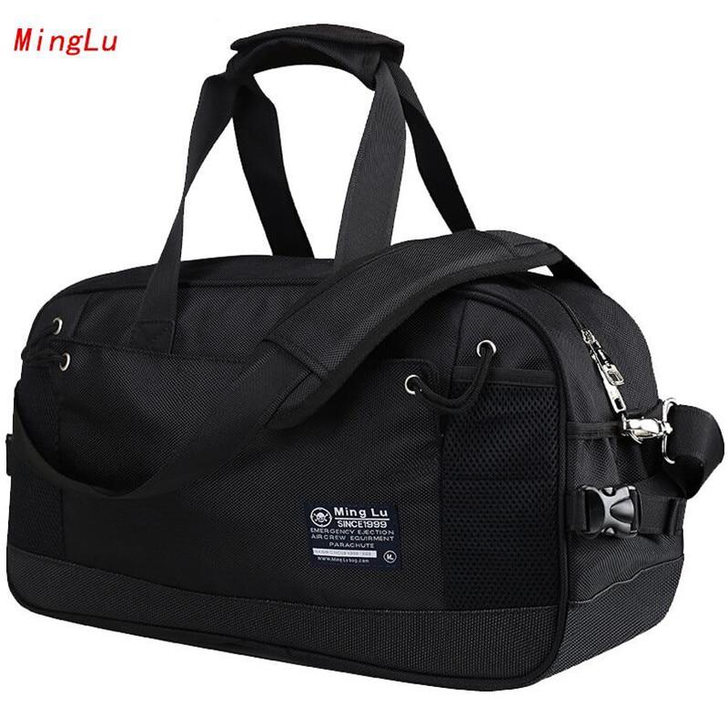 MingLu Famous Brand Travel Bag Waterproof Oxford Fashionable Duffle Bags Multi-function Handbags Casual Mens Messenger Bag M337