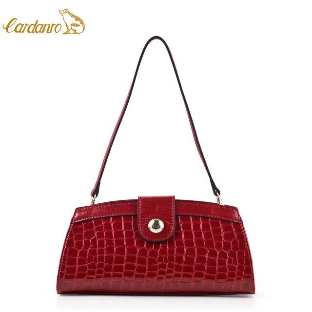 Cardanro 2013 women s handbag crocodile pattern first layer of cowhide one  shoulder handbag cross-body fashion bride day clutch 716fa136d9621