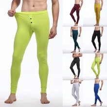Men's Soft Long Johns Thermal Pants Underwear Bottom Trouser