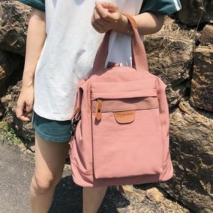 Image 3 - Cute Student Waterproof Backpack Female Women Vintage School Bag Girl ladies Nylon Backpack Long handle Book Bag Fashion Teenage