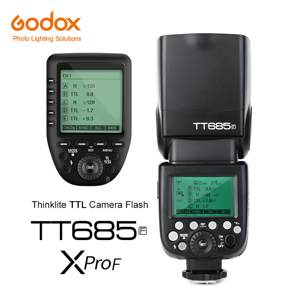 Godox TT685F 2 4G HSS TTL GN60 Flash Speedlite Xpro F Trigger Transmitter Kit for Fuji