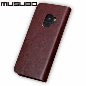 Image 3 - Musubo Bao Da Cao Cấp Dành Cho Samsung Galaxy S20 S10 S9 Plus S8 Plus S7 Edge Note 10 9 Vỏ lật Thẻ Ví Solt Capa