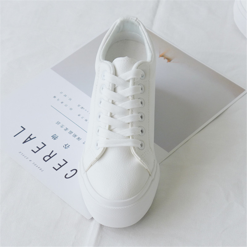 Wedge sneakers Women Casual Shoes Height Increased Woman Shoes Sneakers  2019 Fashion Platform Sneakers Female Wedges White Black-in Women s  Vulcanize Shoes ... 3aeab3d792cd