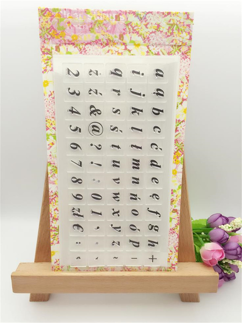 number and letters Scrapbook DIY photo Album paper cards clear stamp transparent stamp for christmas gift LL-108
