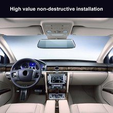 7 Polegada 1080 P Registro de Condução de Carro 170 Wide Angle Estacionamento Invertendo Sensor de Monitoramento de Visão Noturna Lente Dupla DVR Toque tela