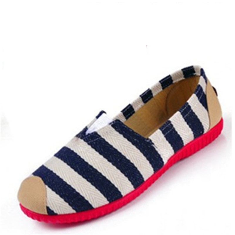 Women Loafers Soft Rainbow Stripe Slip On Flats Colorful Women's Flats Lazy Shoes Spring Summer Canvas Shoes Woman Plus Size dreamshining new fashion women colorful flat shoes women s flats womens high quality lazy shoes spring summer shoes size eu35 40