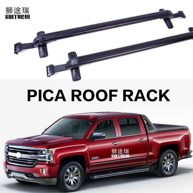 Car Luggage Rack Crossbar Roof Rack FOR Chevrolet Silverado Colorado Tundra F-150 navara  Tacoma Titan Pickup truck load 150KG