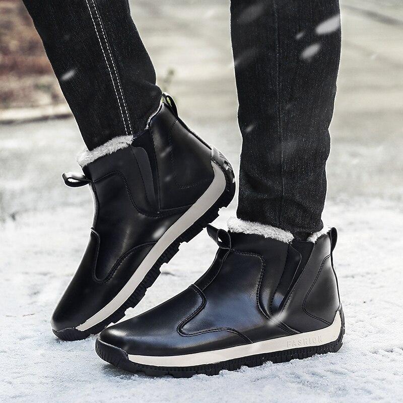 Bottes de pluie hiver hommes anti-dérapant Tube court bottes d'eau chaude lavage de voiture chaussures imperméables travail Plus velours