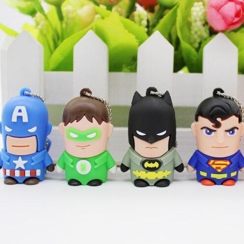 Cartoon Mini USB 1TB 2TB Flash Drive Batman Pen Drive Superman Pendrive 8GB-512GB Memoria USB Stick Memory Stick Flash Card 2.0