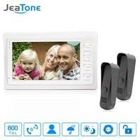 JeaTone 7 Inch TFT Touch Key Video Door Phone Doorbell 800TVL Camera Home Security Intercom System