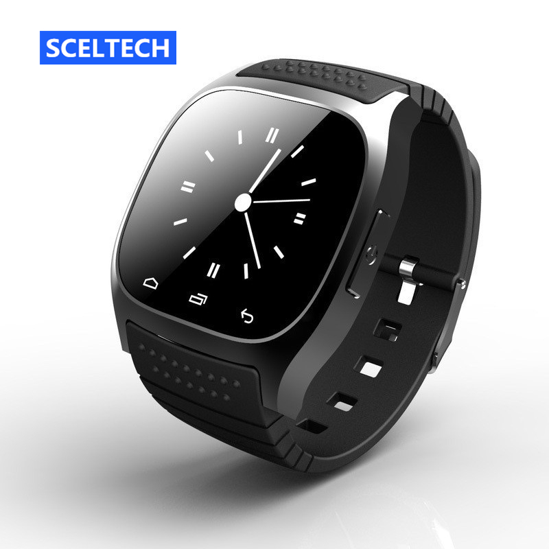 SCELTECH M26 sport Smart watch Bluetooth Music Player Smartwatch With LED Alitmeter Pedometer For Android