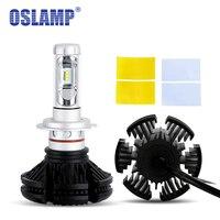 שבבי 50 W/set Oslamp CSP 9005 H7 LED פנסים אוטומטי ערכת סטיילינג 9006 Led רכב נורות H13 פנס ערפל H11 3000 K 6500 K 8000 K Fanless