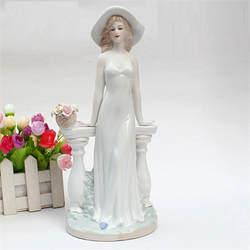 Изящная керамическая Богиня леди Фигурки Ремесел Room Decor Свадебные ремесленных орнамент фарфоровая статуэтка домашний декор R768