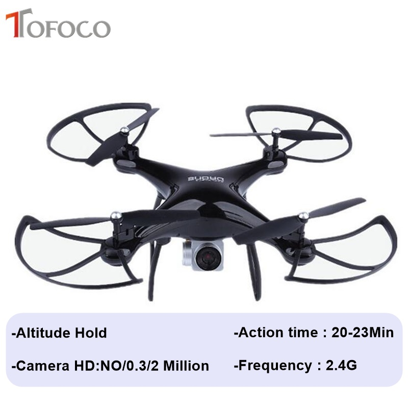 TOFOCO Altitude Hold 20 Minute Action Headless FPV RC Drone With/No Camera HD WIFI Remote Control RC Helicopter Quadcopter Drone