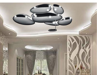 Nordic postmodern minimalist electroplating mercury irregular shape mango ceiling lamp office living room dining room lamps