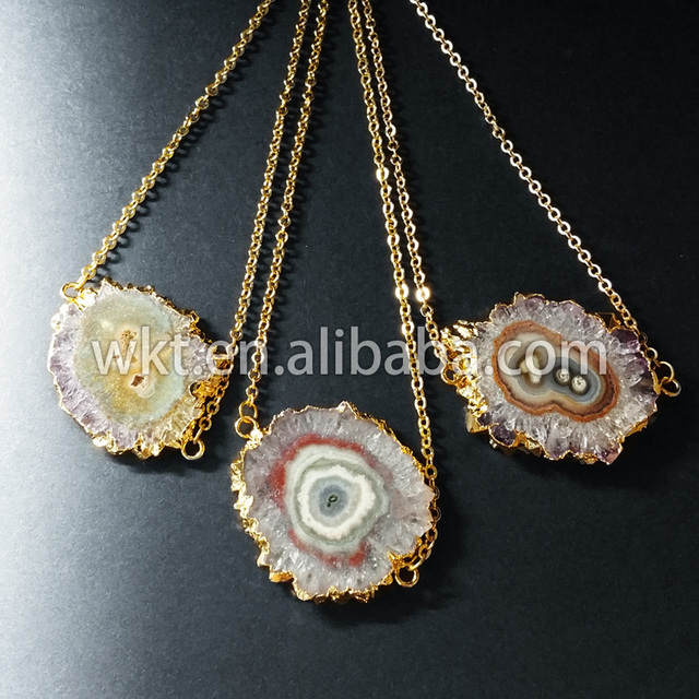 New exclusive! Wholesale precious amethyst stalactite necklace, solar quartz stalactite amethyst necklace