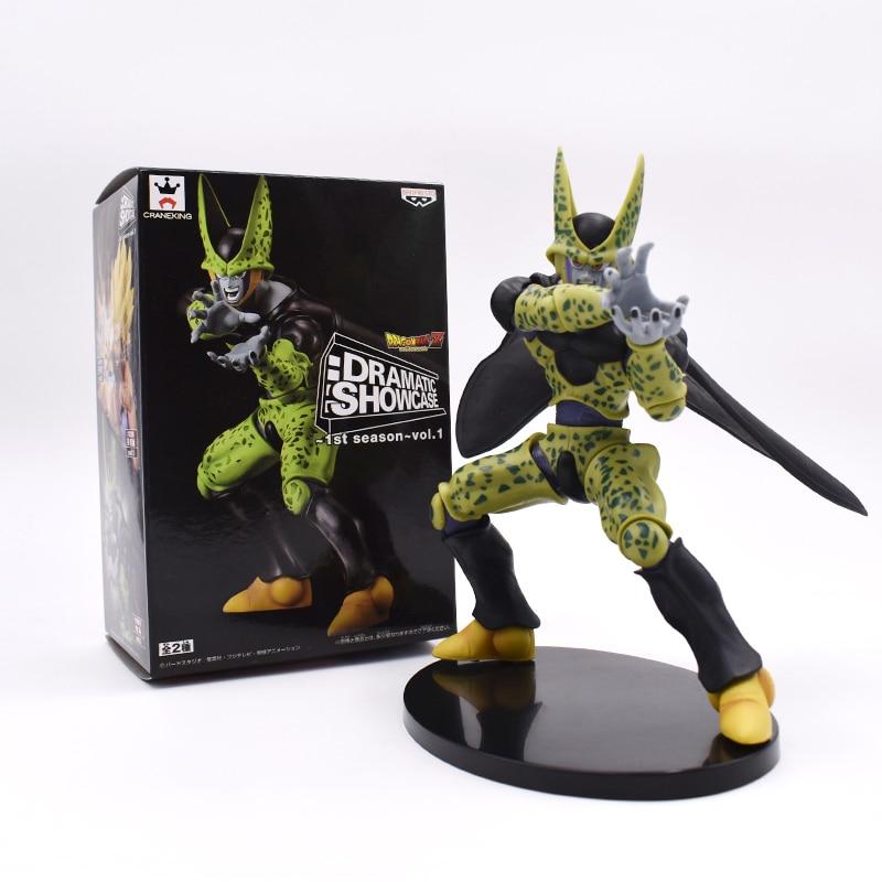 цена на Dragonball 17cm Cell PVC Action Figures DRAMATIC SHOWCASE Dragon Ball Z Model Toy Free Shipping