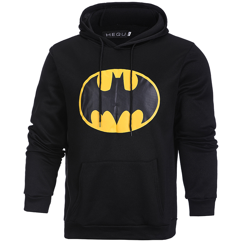 New Fall  Winter Warm Man Batman Hoodie For Men Casual Cotton Tracksuit