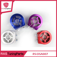 Alto Desempenho de Corrida Auto Oil Filter Cooler Adaptador Sandwich Plate (Azul, Roxo, Vermelho, Prata) RS3-OSA007
