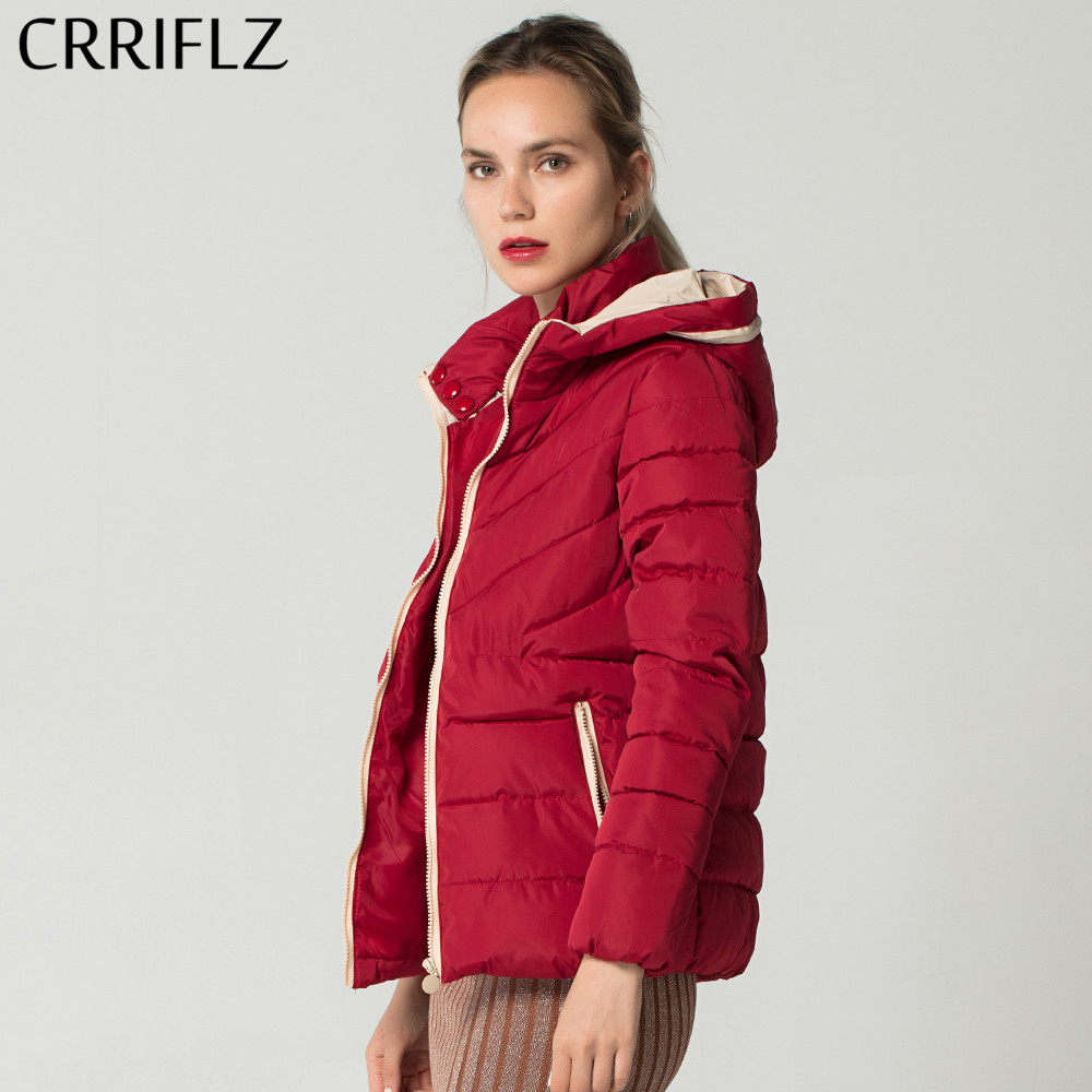 2019 New Hooded Woman   Jacket   Coat Slim Winter   Basic     Jacket   Coat Female Parkas Outwear Tops CRRIFLZ Autumn Winter Collection