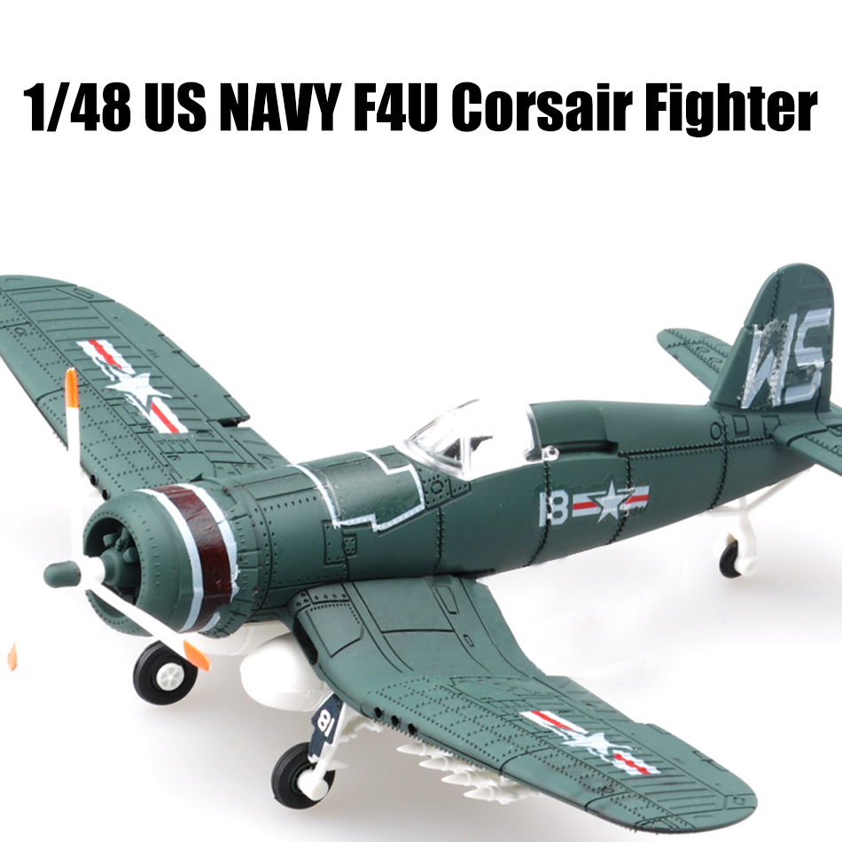 2017 New 4D Model Plastic Aircraft Model 1/48 US NAVY F4U Corsair Fighter 000074 1 400 jinair 777 200er hogan korea kim aircraft model