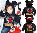 Crianças Meninos Meninas Mickey Minnie Mouse Hoodies Manga Longa Meninas Sweatershirt Hoodies Encapuzados