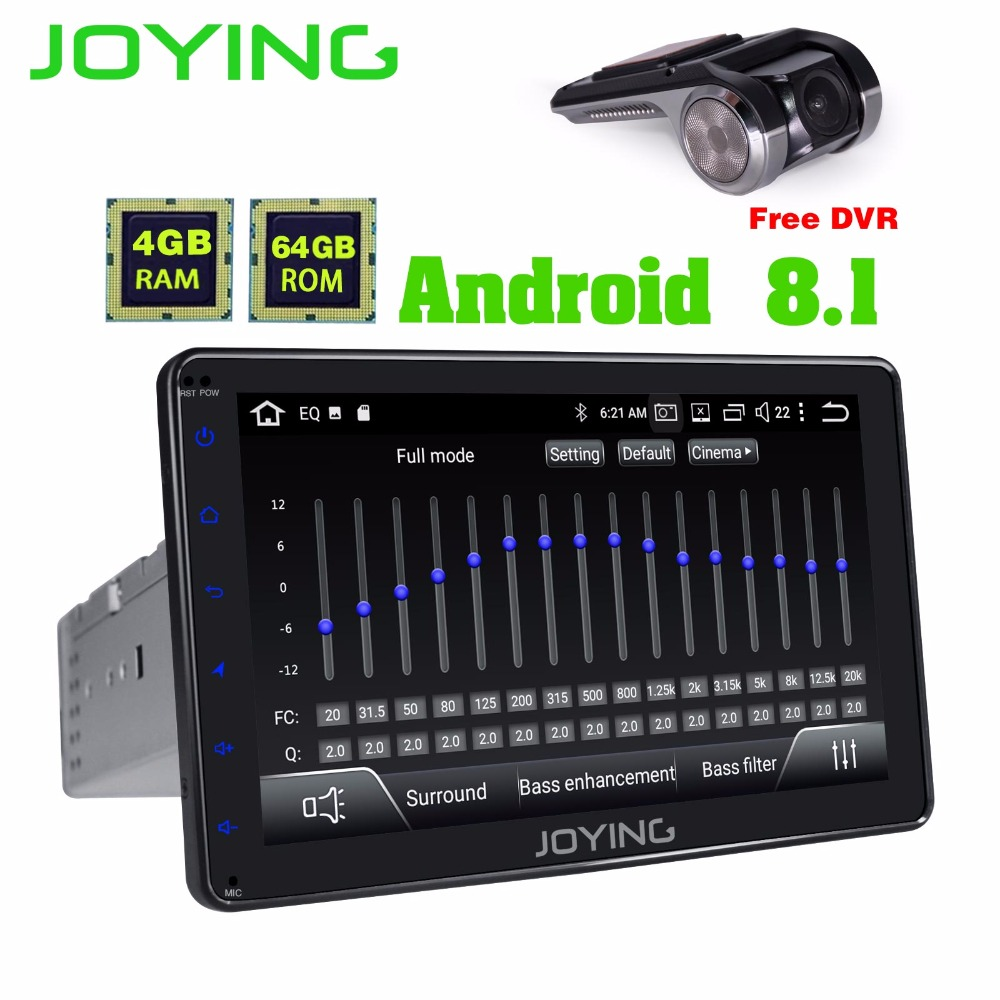 JOYING 4GB Ram 64GB ROM Octa 8 core Car Radio 1din Android 8.1 auto Audio Stereo Head Unit Tape Recorder Multimedia player GPS