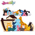Free delivery, Noah's ark of wooden puzzles,Toys & Hobbies Models & Building Toy,Children's educational toys,animal characters