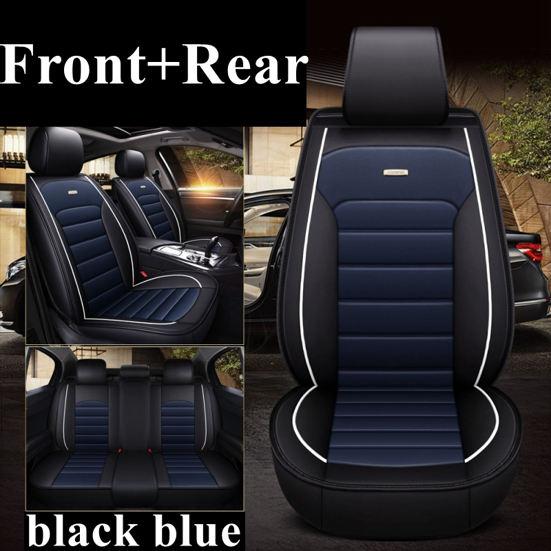Black Blue Leather Car Seat Covers For Land Rover Freelander 2 2006-2014