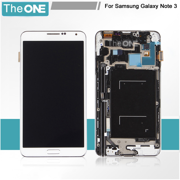 5 pieces free shipping assembly replacement for samsung galaxy note 3 N9005 lcd display +touch digitizer with frame