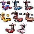 O envio gratuito de carro esportivo de luxo modelos de transformação robô deformação carro de controle remoto rc toys presente para crianças