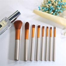 8PCS Travel Makeup Brushes Set Eyeshadow Eyebrow Eyelashes Eyeliner Lip Brush Smudge Brush Cosmetic Tool Pincel Maquiagem YA50-8 цены онлайн