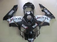 Injection molding ABS motorcycle fairing kit for Honda CBR600RR 03 04 white black West fairings set CBR600 RR 2003 2004 CF25