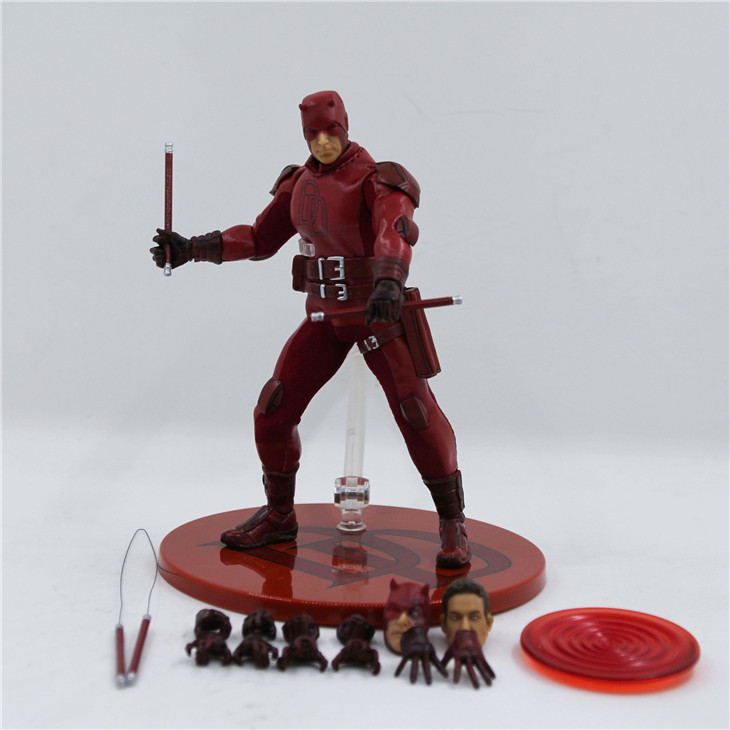 XINDUPLAN Marvel Anime Daredevil Matt Murdock Super Hero Avengers Movable Action Figure Toys 15cm Kid Gift Collection Model 1059 new hot 22cm avengers super hero hulk movable action figure toys christmas gift doll with box