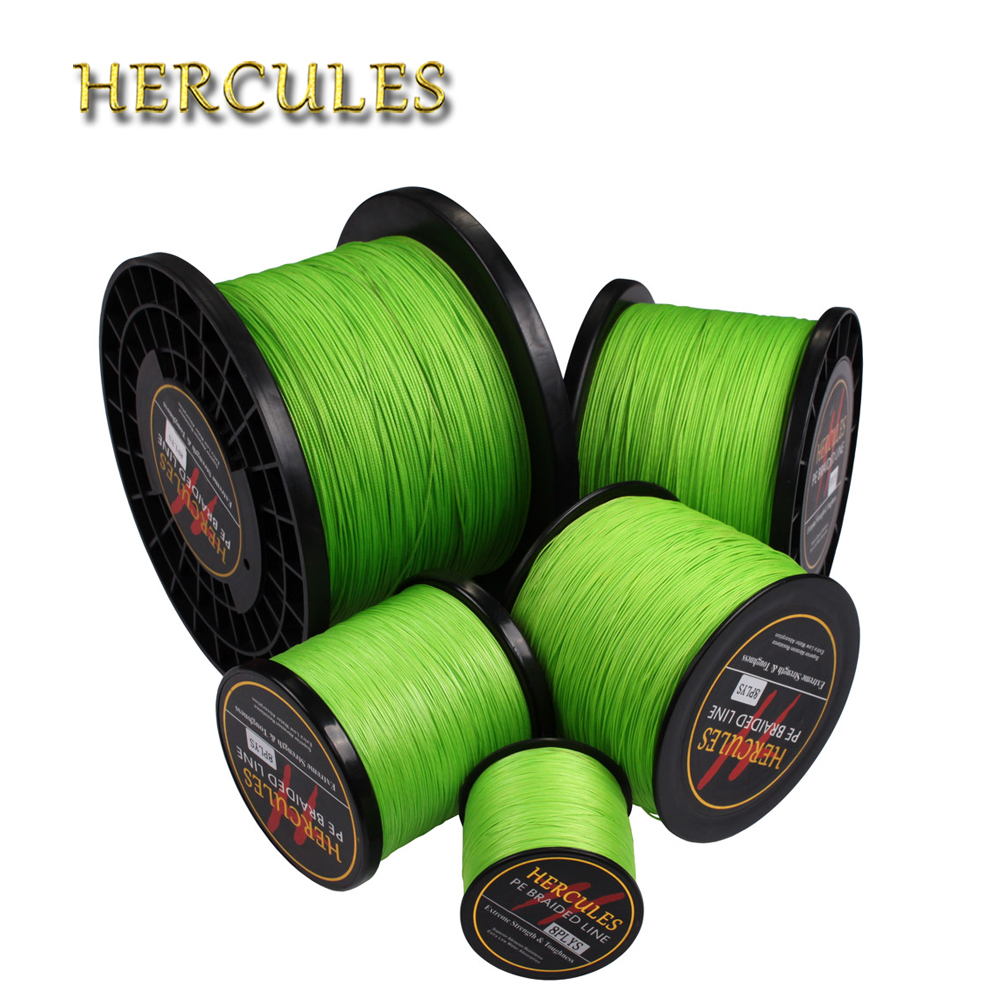 Hercules Fishing Line Green Braided Fishing Line 2000M 10LB-200LB Saltwater Carp Fishing Accessories 8 Strands Big Game Peche