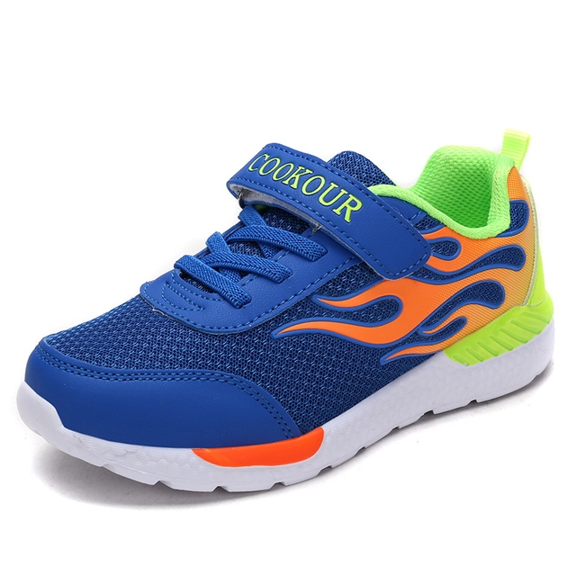 633c3e1c241 Brand Sneakers 2018 Boys Children Outdoor Breathable Sport Shoes  Comfortable Cheap Kids Training Athletic Jogging Shoes 28-37