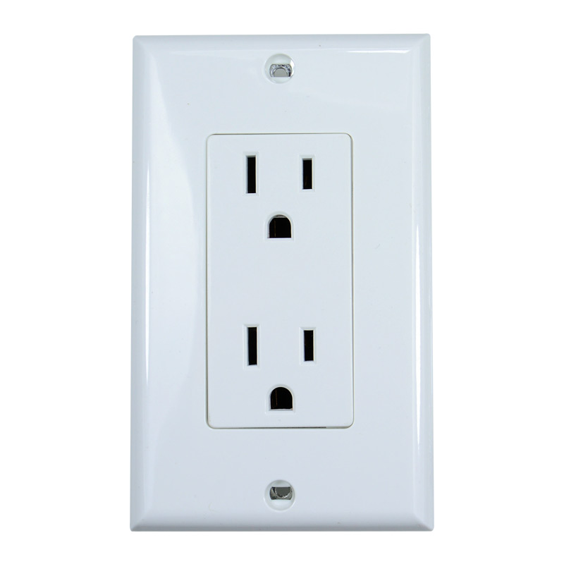 125V North America 15A American Standard power outlet beauty UL certification regulations double socket UL15A rak dinding minimalis diy