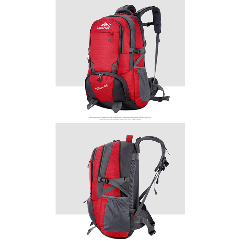 Image 3 - Male 65L unisex Waterproof backpack travel sports bags pack bag 