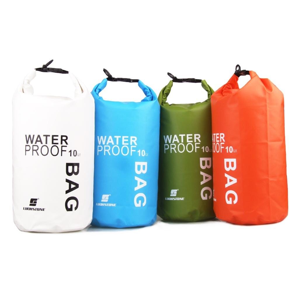 Prix pour 10L Ultra-Léger Sac Étanche Dry Camping À Sec Sac pour Voyage En Plein Air Rafting À La Dérive Kayak De Natation Randonnée Waterbag Voyage Kit