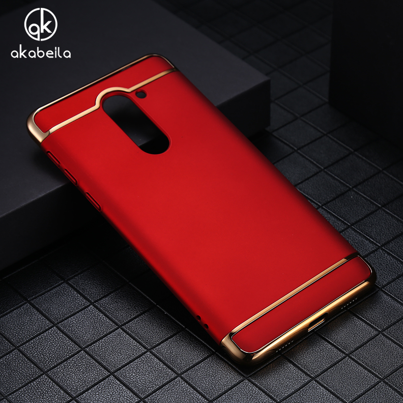 AKABEILA Plating Plastic Case Cover For Huawei Honor 6x 2016 GR5 2017 BLN-AL10 Honor Play 6X Case Matte Phone Bag Plating Back