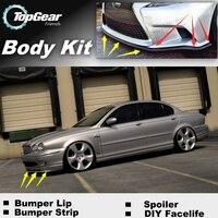 Bumper Lip Deflector Lips For Jaguar S Type S Type Front Spoiler Skirt For TopGear Friends Car Tuning / Body Kit / Strip