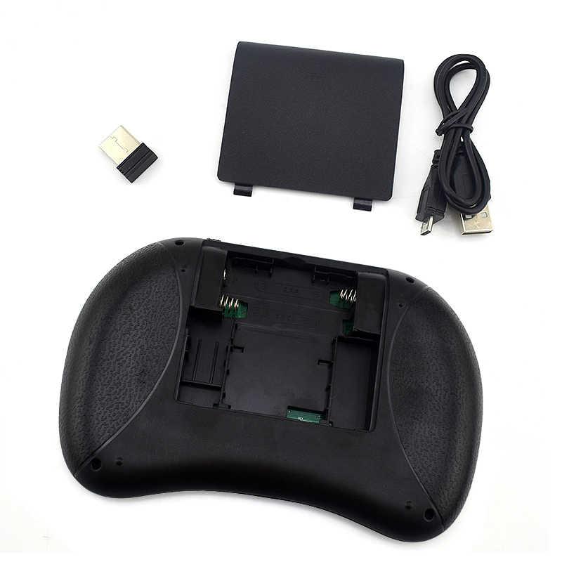 Беспроводная клавиатура мышь I8 2,4G приемник оптическая мышь английская версия тачпад ручной пульт дистанционного управления для Android tv Box PC