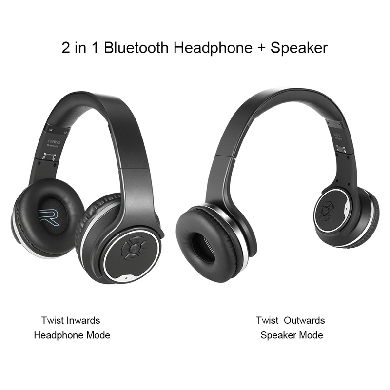 bluetooth headset HC042 2in1 NFC Twist-out Speaker Wireless headphone With microphone/FM Radio/AUX/TF Card earphone for phones flashing lights twist out speaker bluetooth headphone with fm radio aux tf card mp3 sports magic headband wireless headset