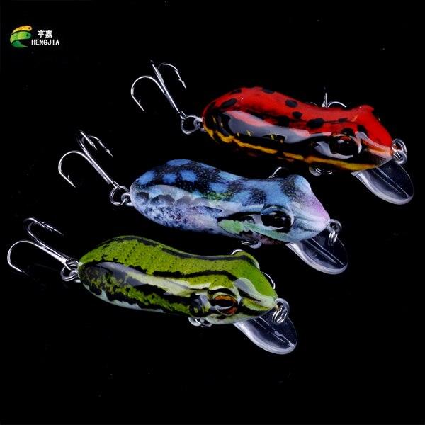 HENGJIA 60mm Bionic Frog Kalapüügivood FO014 Realistlik veekindel - Kalapüük