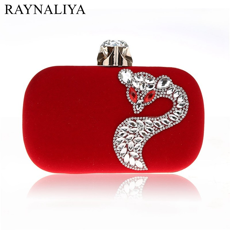 Clutch-Chain Evening-Bags Velvet Shoulder-Bag Small-Day Fashion Women Luxurious SFX-A0019