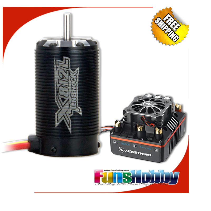 RC 1/8 Off Road Super Permium Power Combo INCL.Tenshock X812L Sensor Motor&Hobbywing XERUN XR8 PLUS ESC for Buggy Competition 1 8 off road power combo incl tenshock x812 sensor electric brushless motor