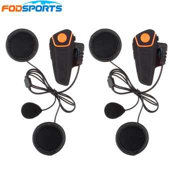 2 pcs BT-S2 Motorcycle Helmet Bluetooth Intercom Headsets 1000m Motorbike Interphone with Soft Microphone FM Waterproof IPX6 - DISCOUNT ITEM  20% OFF All Category
