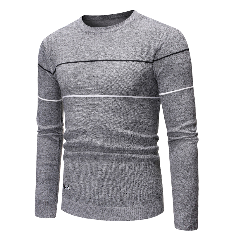 Autumn New Sweater Men Casual Brand Fashion 2019 Chompas Para Hombre Round Collar Slim Fit Pull Homme Striped Pullovers Men 2XL